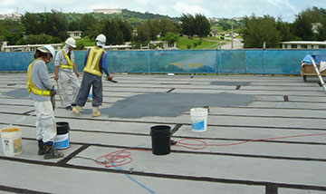 Applying Emulsion on Roof Deck