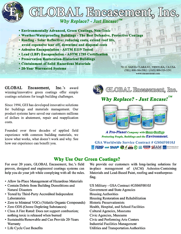 GEI Brochure | GLOBAL Encasement, Inc