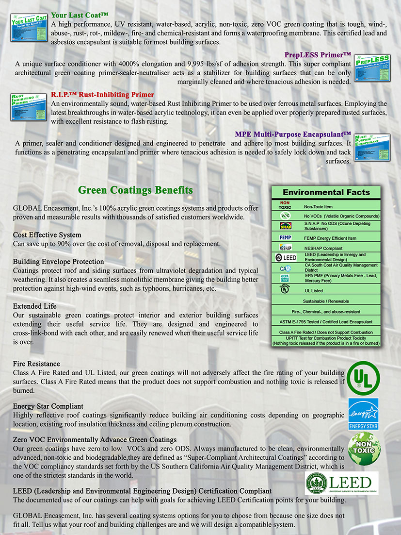 Trifold brochures award winninginnovative green coatings 1betcityfo Choice Image