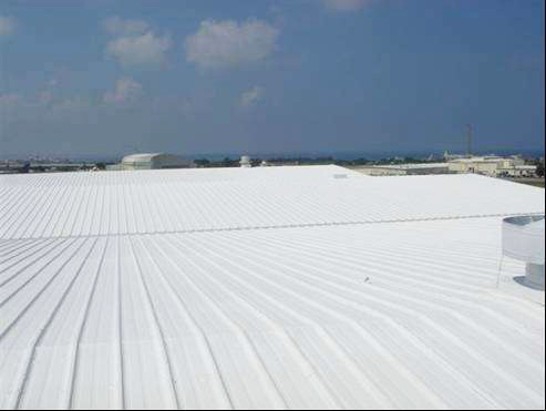 Hangar Metal Roofing after application of RoofCoat™