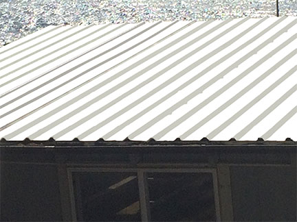 metal roof after application of Your Last Coat™